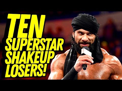 10 LOSERS IN THE WWE SUPERSTAR SHAKEUP! Going in Raw Countout Pro Wrestling Podcast