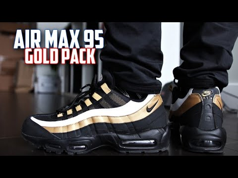 Watch SneakerTalk - Nike Air Max 95 OG Gold REVIEW and On-Feet ... d2badbb81