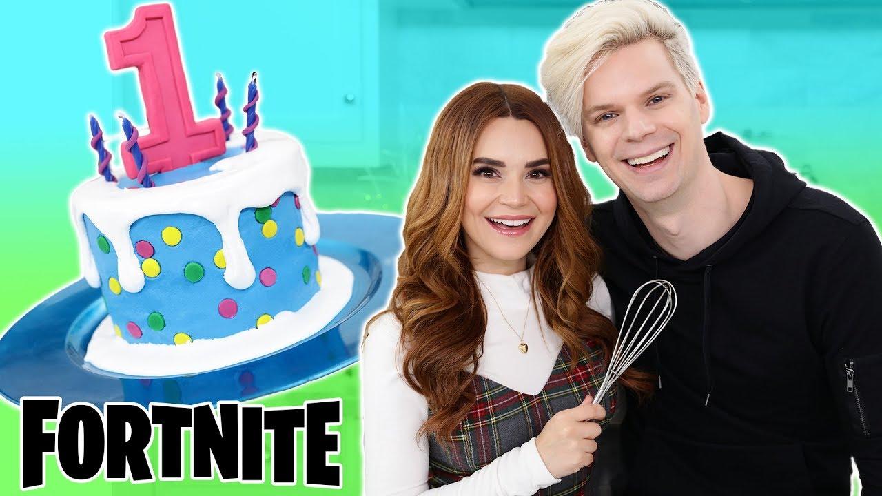 Baking With My Boyfriend! - FORTNITE Cake - NERDY NUMMIES