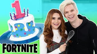 Baking With My Boyfriend! - FORTNITE Cake - NERDY NUMMIES