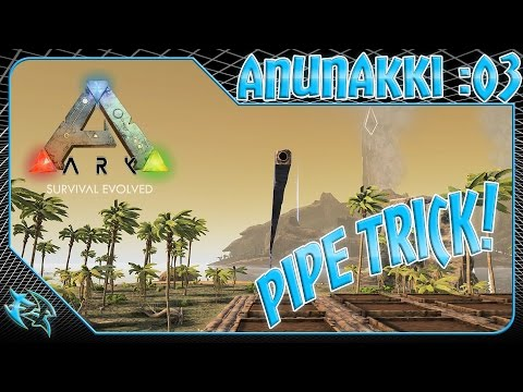 ARK [1080/60fps] - HOW TO:  PIPE TRICK - THE CENTER