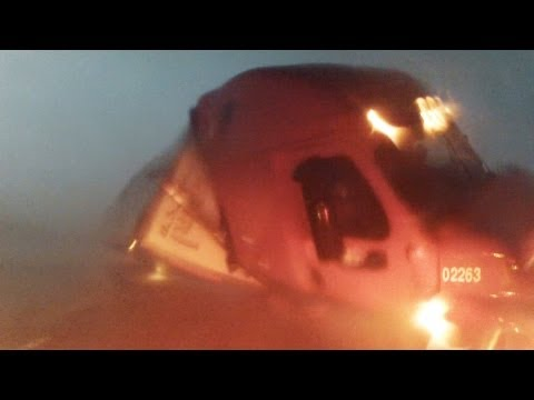 El Reno Tornado 2013 – Semi Tractor Trailer Flipped by Tornado – Full Version – 31st May 2013