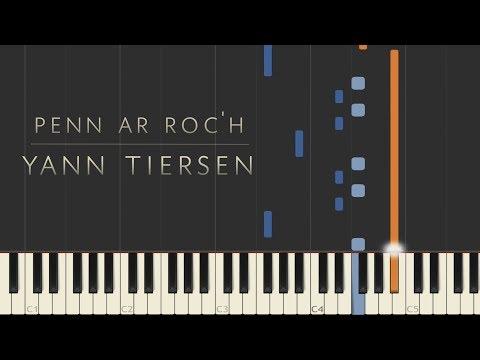Penn ar Roc'h - Yann Tiersen \\ Synthesia Piano Tutorial