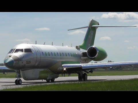 UAE Air Force Global 6000 Ground Testing at Cambridge Airport