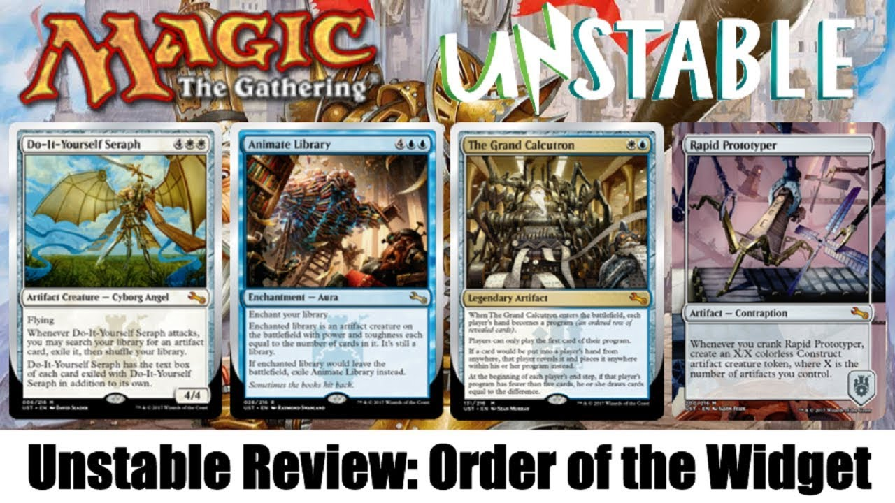 Mtg unstable full set review order of the widget youtube mtg unstable full set review order of the widget solutioingenieria Gallery