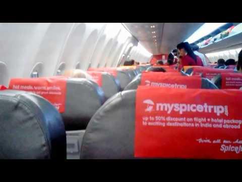 Inside SpiceJet Ahmedabad Hyderabad  Flight SG 511