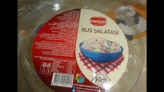 Rus Salatasi Дегустация оливье из магазина BIM Аланья Турция