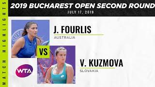 Jaimee Fourlis vs. Viktoria Kuzmova | 2019 Bucharest Open Second Round | WTA Highlights