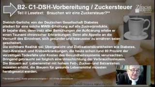 B2 DSH Vorber  Teil II Lesetext Zuckersteuer