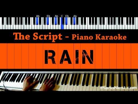 The Script - Rain - Piano Karaoke / Sing Along / Cover with Lyrics