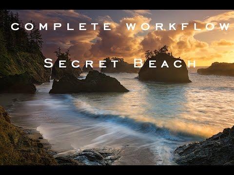 Secret Beach Complete Workflow Time Lapse