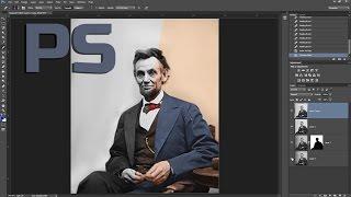 Уроки фотошопа.  Реставрация фото. Как раскрасить фото