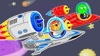 Lion Family 🚀 Space Adventures #6. Super Jets | Cartoon for Kids