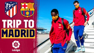 ✈️ Barça land in Madrid ahead of the game against Atlético