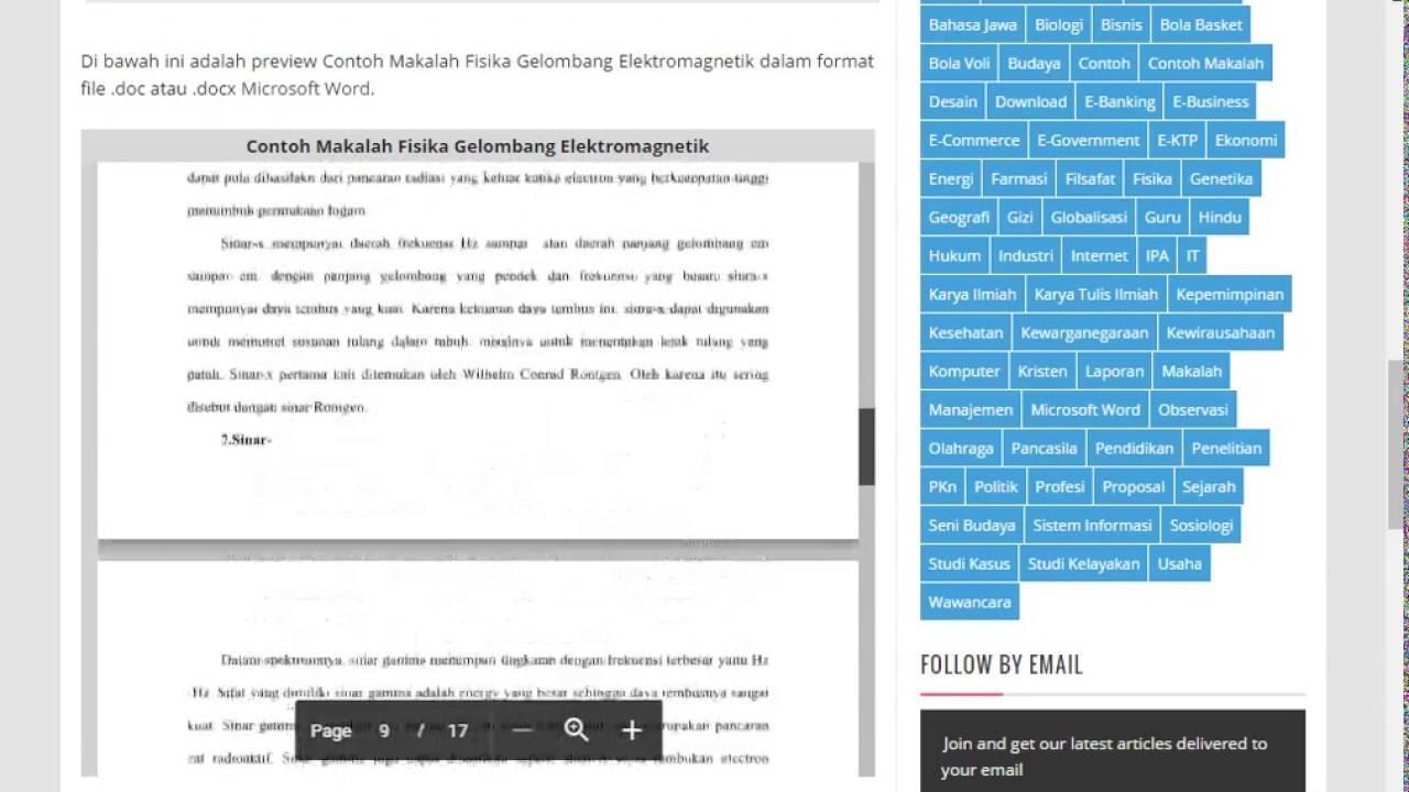 Contoh Makalah Fisika Lengkap Format Microsoft Word Youtube