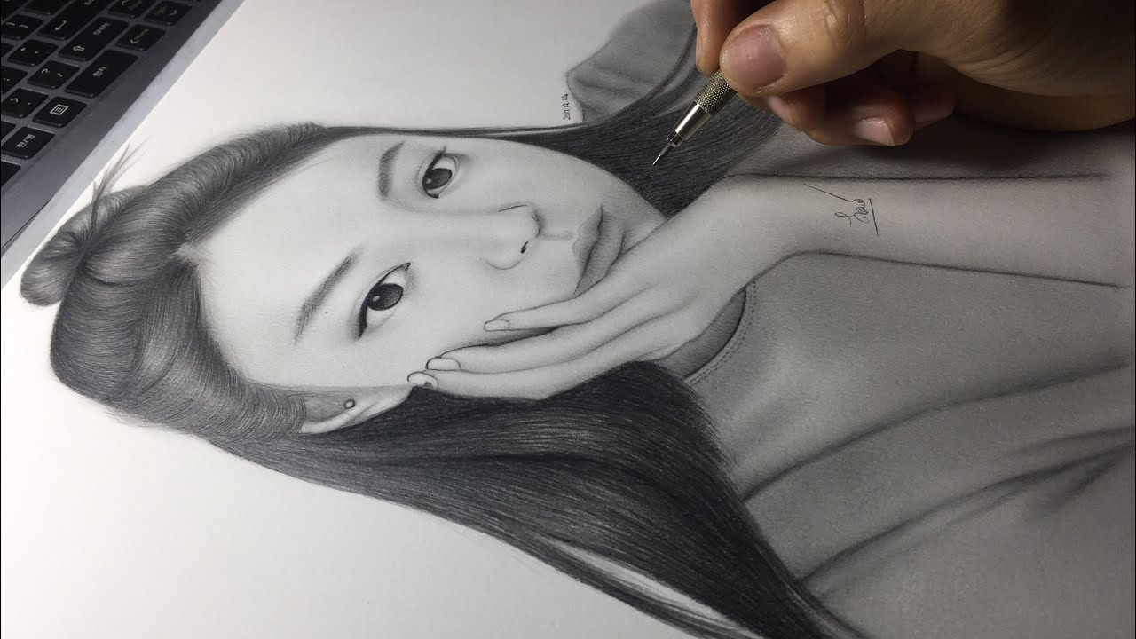 Blackpink ~Jennie speed drawing || Kpop United - YouTube
