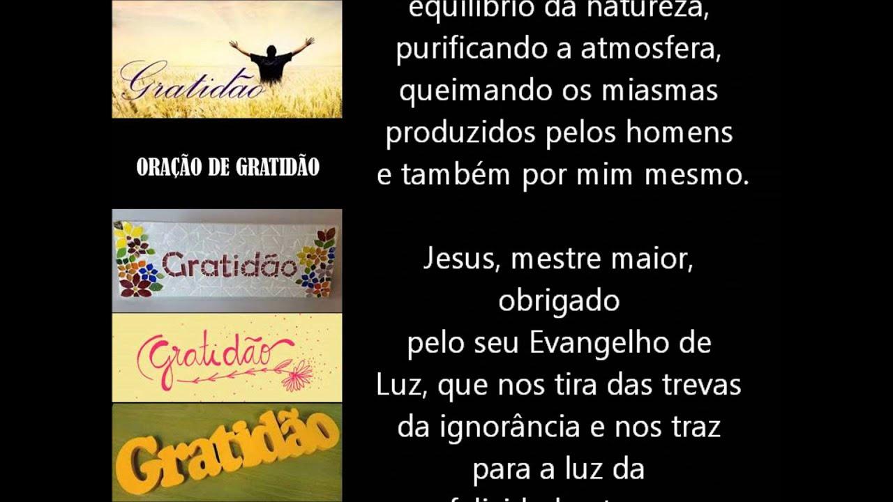 Oração De Gratidão