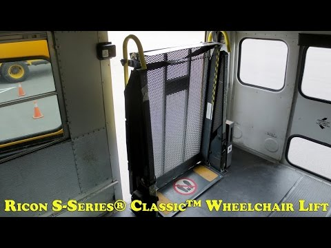 Ricon S-Series® Classic™ Wheelchair Lift - Manual Operations