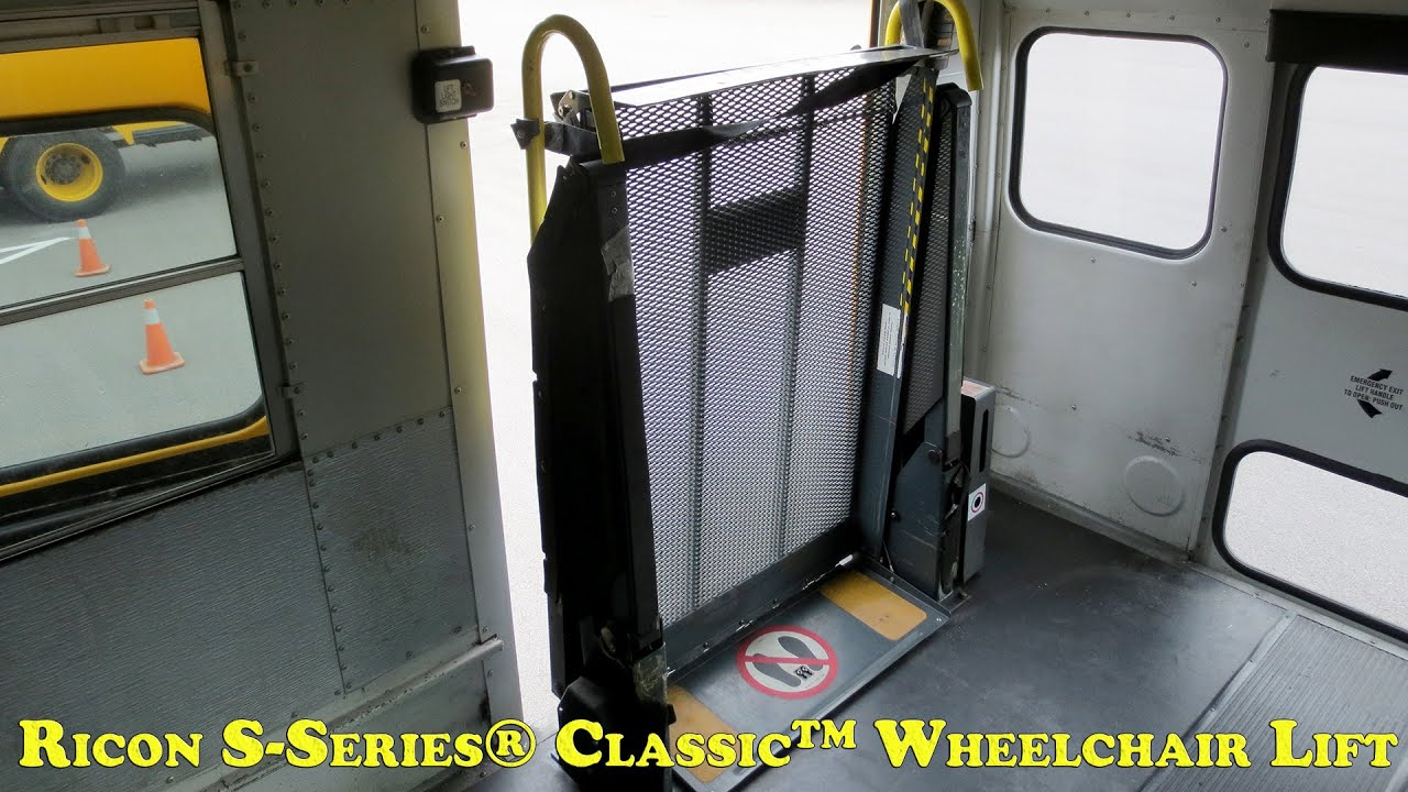 ricon lift wiring diagram 2005 nissan titan fuse s series classic wheelchair manual operations youtube