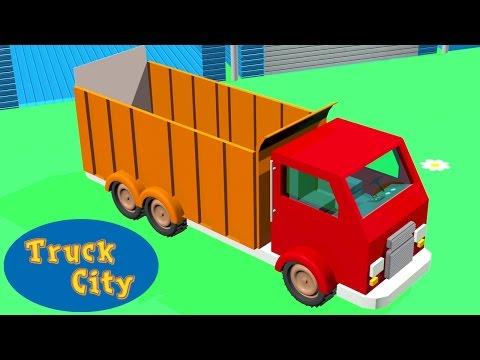 Camion de volteo construcción piscina y tobogán gigante   Ciudad de Camiones Juegos de construcción