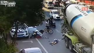 Những video tai nạn có 1 không 2, Khuyên bạn nên cẩn thận khi ra đường - TIN TUC TONG HOP