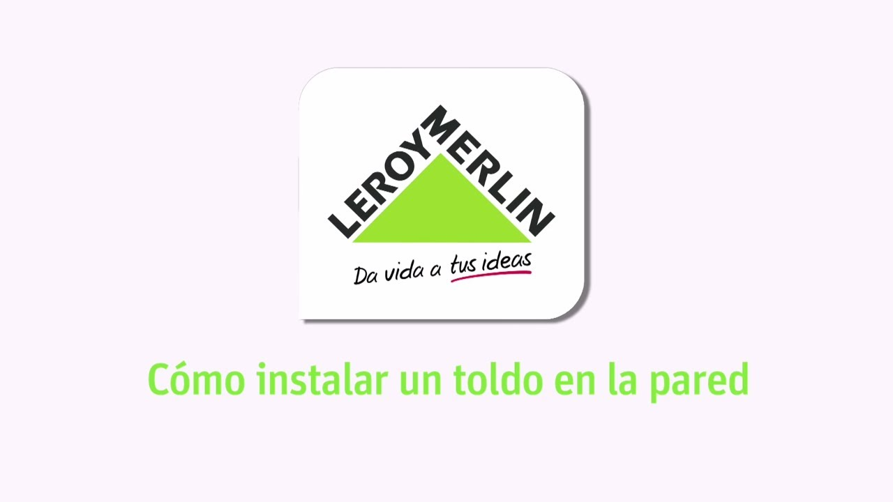 C mo instalar un toldo en la pared leroy merlin youtube for Fabrica de herrajes para toldos