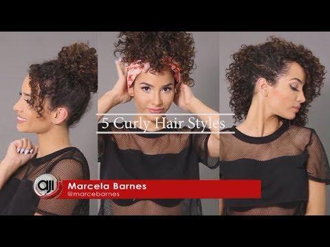 Tutorial De 5 Peinados Faciles Para Cabello Rizado Por Marzeamor