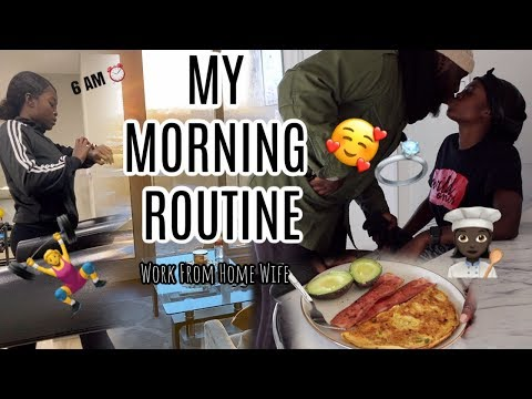 MY NEW MORNING ROUTINE || WORK FROM HOME WIFE LIFE