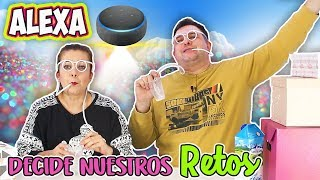 Amazon ALEXA DECIDE nuestros retos ! Alexa picks our challenges | TOMA YA | Marta vs David