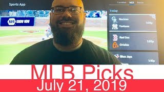 MLB Picks (7-21-19)   Part 1 of 2   Major League Baseball Expert Predictions   Vegas Lines & Odds