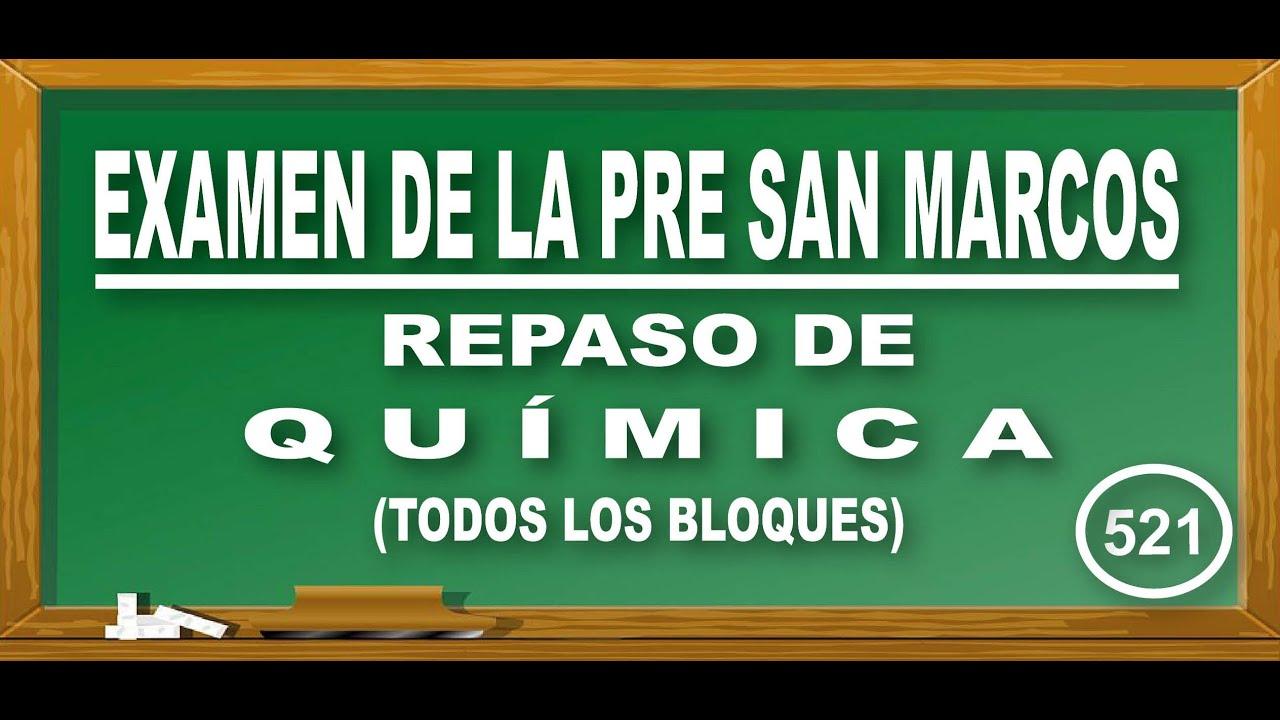 REPASO PRE SAN MARCOS 2020-I:SEMANA 4-6 / QUÍMICA-#DECO-#ADMISIÓN #UNMSM-#CEPREUNMSM