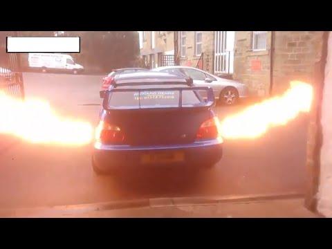 Subaru wrx sti плюется огнем (Субару врикс сти