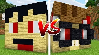 RAGEELIXIR HOUSE VS BRANDONCRAFTER HOUSE IN MINECRAFT POCKET EDITION!