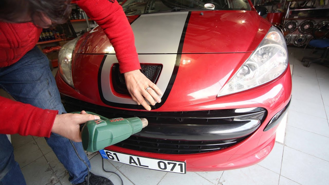 Peugeot 207 Kaplama Ve Aksesuar Yapimi Hur Oto Garage Arac Kaplama Youtube