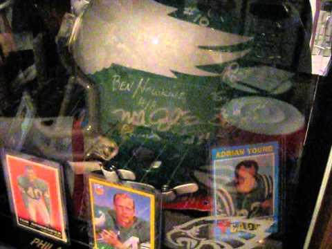 Philadelphia Eagles autographed helmet