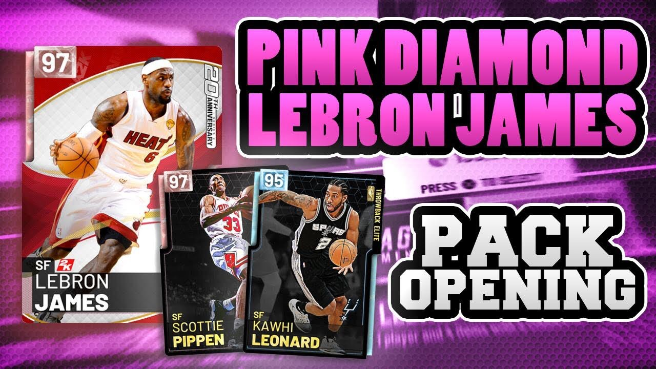 8d1bd805f348 PINK DIAMOND LEBRON JAMES PACK OPENING NBA 2K19 MYTEAM - YouTube