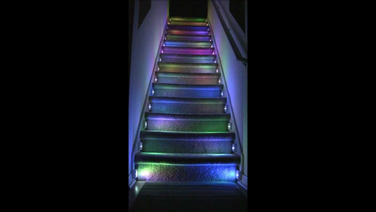 Stairs RGB LED Illumination Project YouTube