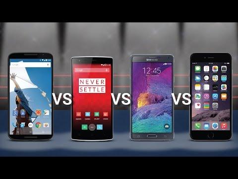 Nexus 6 Vs OnePlus One Vs Samsung Note 4 Vs IPhone 6 Plus [Phablet Comparison]