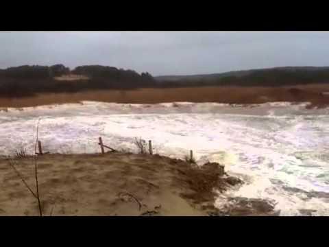 Ocean breaches Pamet River, Truro