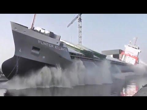 Уникальные кадры спуска кораблей на воду. Descent ships.