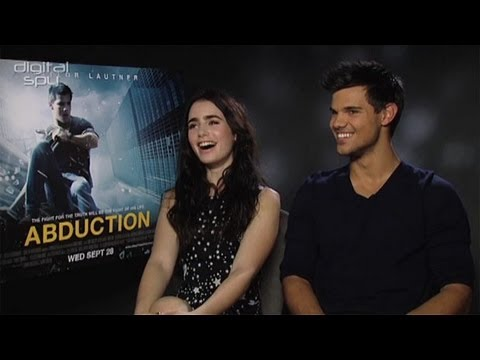 Lily Collins And Taylor Lautner Chat Abduction