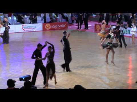 "Artem Popov & Ulya Zhuravleva, ""King's Cup"" Thailand Open 2015, ADSF Adult Open Latin, semifinal"