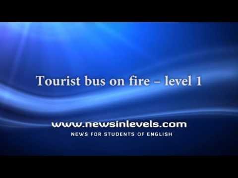 Tourist bus on fire – level 1