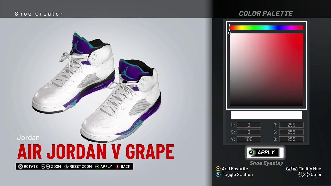 84d0b0e02b0 NBA 2K19 Shoe Creator - Air Jordan 5