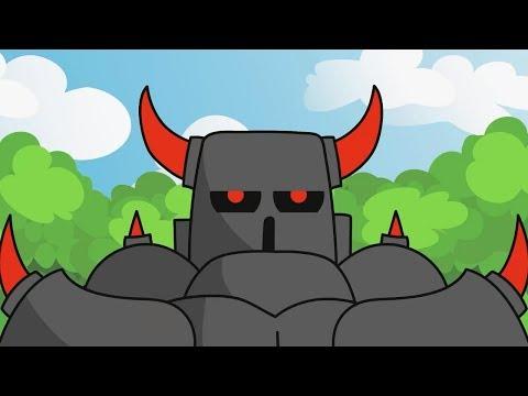 Clash Royale Animation #28: PEKKA vs Giant Skeleton (Parody)