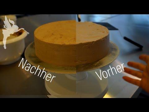 Wie Die Kuchenfee Torten Scharfkantig Einstreicht Torten