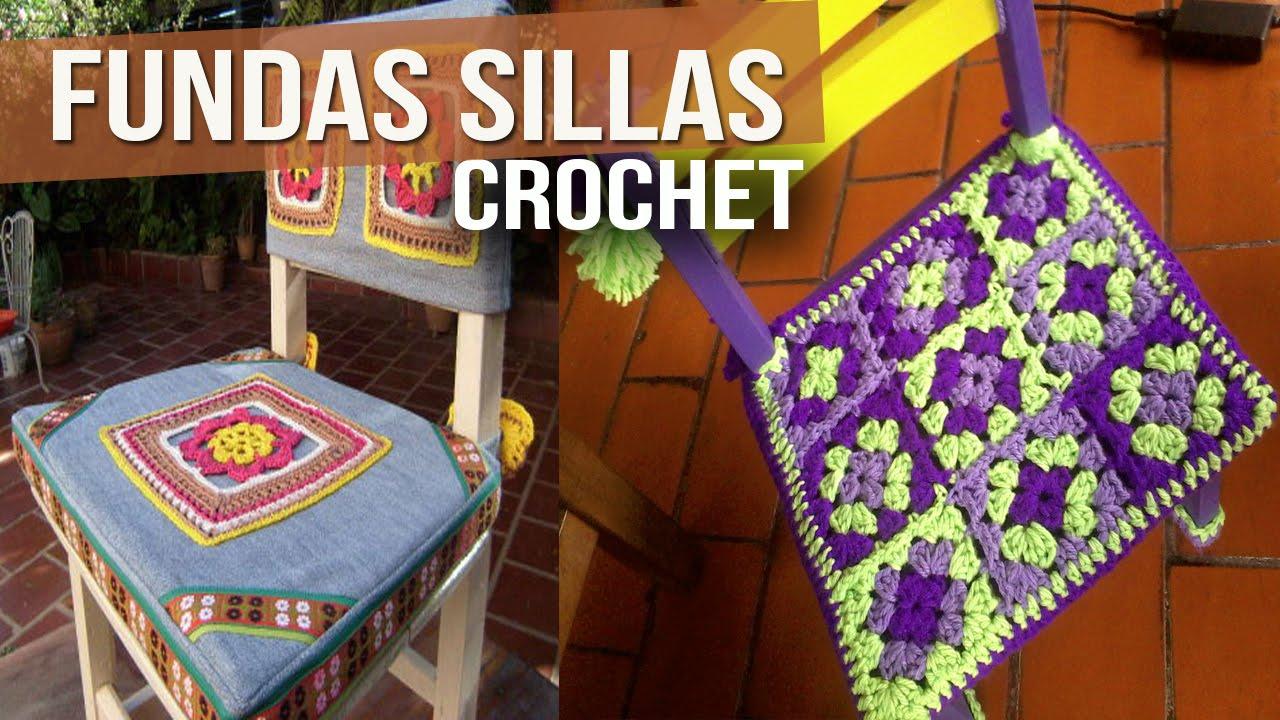 Fundas Para Sillas - Tejidas a Crochet ( Diseños ) - YouTube