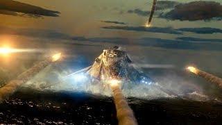 ВМС США уничтожают первый корабль пришельцев. Морской бой