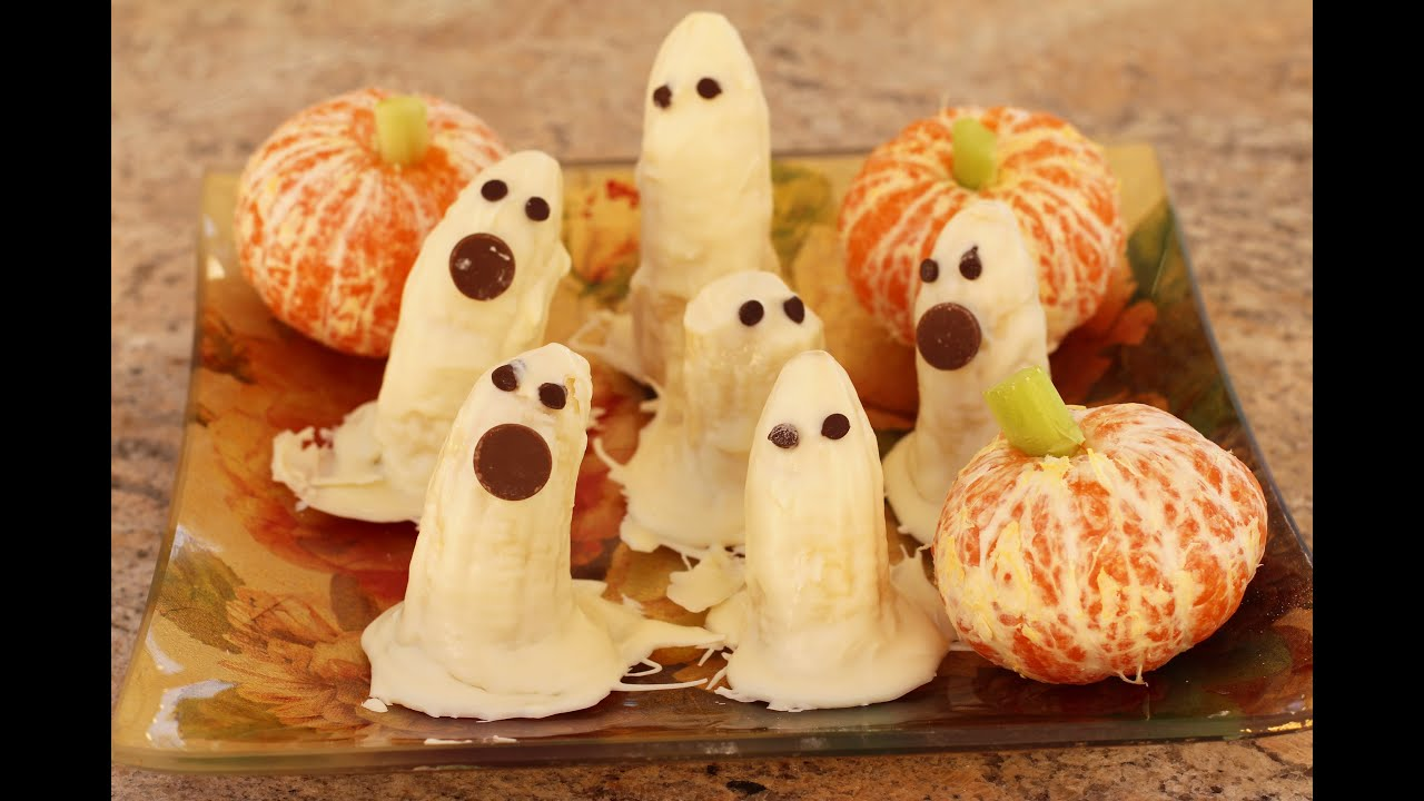 Halloween Banana Ghosts Dipped In White Chocolate By