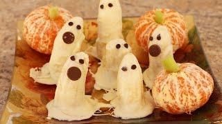 Halloween Banana Ghosts Dipped In White Chocolate By Rockin Robin